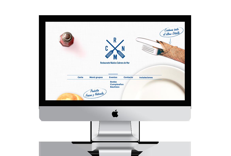 diseño web restaurante náutico cabrera de mar